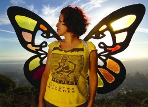Cultural Organizer Favianna Rodriguez in the new online documentary Migration is Beautiful
