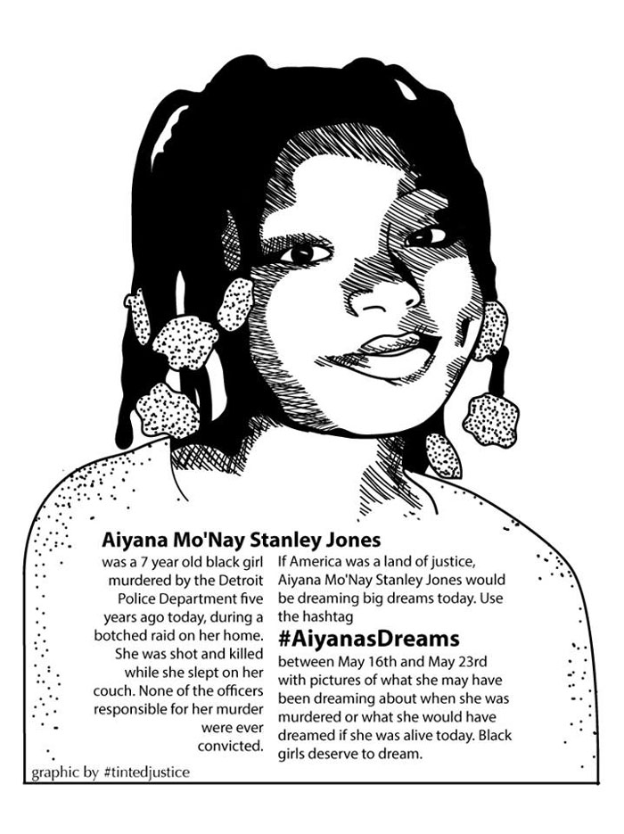 Aiyana Mo'Nay Stanley Jones by #tintedjustice