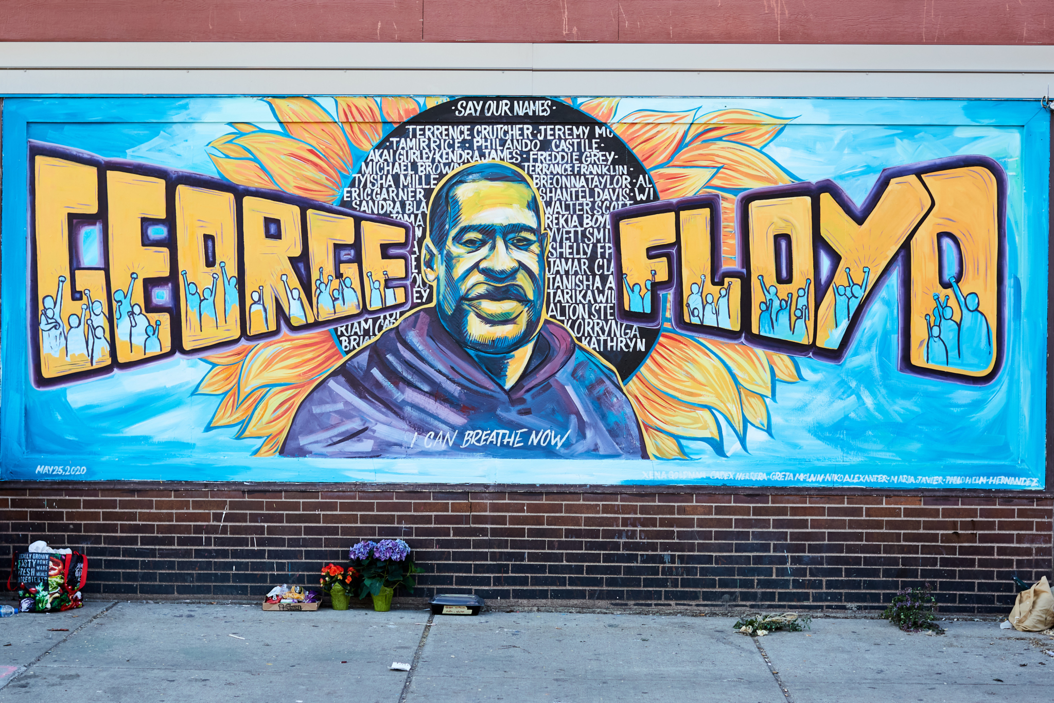 Mural of George Floyd